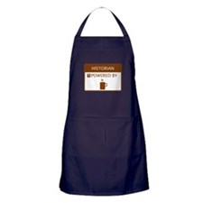 Historian Powered by Coffee Apron (dark)