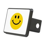 Yellow Smiley Face Rectangular Hitch Cover