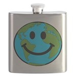Smiling Earth Smiley Flask