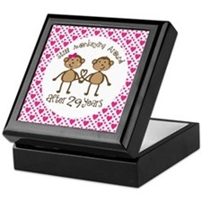 29th Anniversary Love Monkeys Keepsake Box
