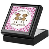 30th Anniversary Love Monkeys Keepsake Box