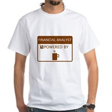 Financial Analyst Powered by Coffee Shirt