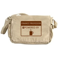 Finance Professor Powered by Coffee Messenger Bag