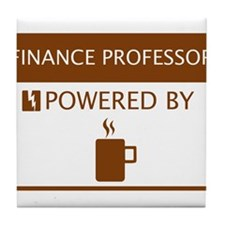 Finance Professor Powered by Coffee Tile Coaster