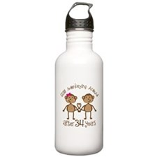34th Anniversary Love Monkeys Water Bottle