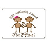 39th Anniversary Love Monkeys Banner