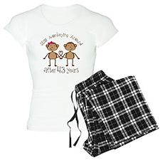 43rd Anniversary Love Monkeys Pajamas