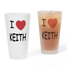 I heart KEITH Drinking Glass