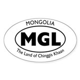 Mongolia/Chinggis Khaan Oval Decal