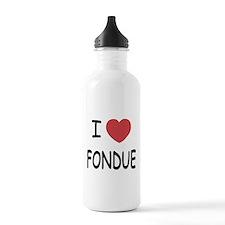 I heart fondue Water Bottle