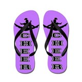 Cheer purple and black Flip Flops