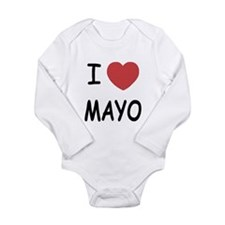 I heart mayo Long Sleeve Infant Bodysuit