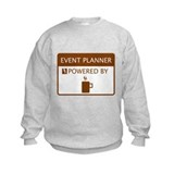 Event Planner Powered by Coffee Sweatshirt