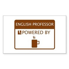 English Professor Powered by Coffee Decal