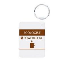 Ecologist Powered by Coffee Aluminum Photo Keychai