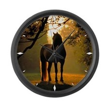 Large Wall Clock - horse