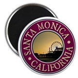 "Los angeles 2.25"" Round Magnet"