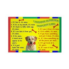 Funny Yellow labradors Rectangle Magnet