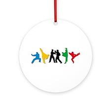 Tae Kwon Do Kicks Ornament (Round)