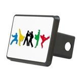 Tae Kwon Do Kicks Rectangular Hitch Cover