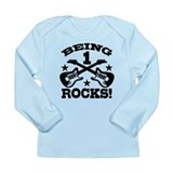Being 1 Rocks Long Sleeve Infant T-Shirt