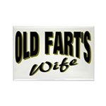 Old Fart's Wife Rectangle Magnet