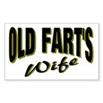Old Fart's Wife Rectangle Sticker