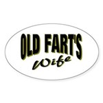 Old Fart's Wife Oval Sticker