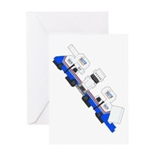Bluth Company Staircar Cut-Out Greeting Card