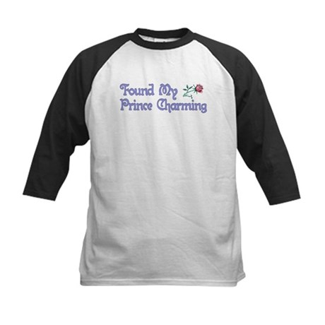 Found My Prince Charming Kids Baseball Jersey