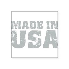 "Made In USA Square Sticker 3"" x 3"""