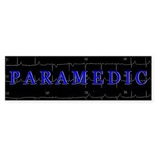 PARAMEDIC on 12lead ECG graphic Bumper Stickers