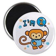 "I'm 2 Lil Monkey Birthday 2.25"" Magnet (100 pack)"