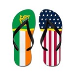 Irish Ireland Eire American Flag Flip Flops