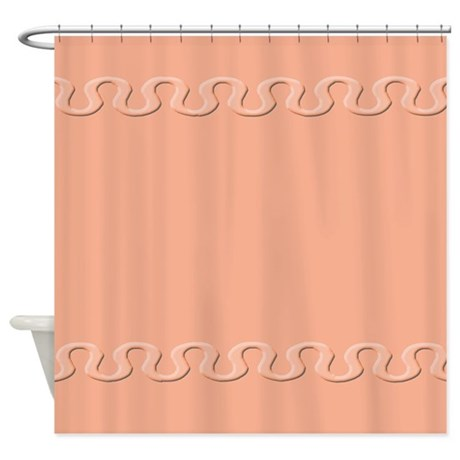Salmon Colored Shower Curtain Coral Colored Shower Curtain