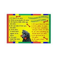 Labrador Retriever Property Laws 1 Rectangle Magne