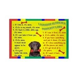 Funny Chocolate labs Rectangle Magnet