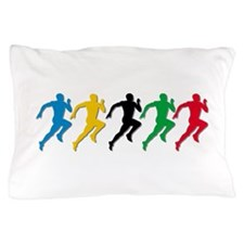 Track and Field Runners Pillow Case
