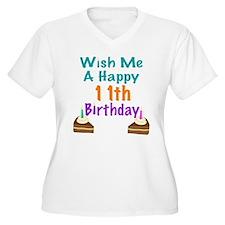 Wish me a happy 11th Birthday T-Shirt