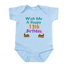 Wish me a happy13th Birthday Onesie