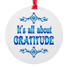 All About Gratitude Ornament