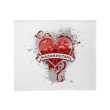 Love Kazakhstan Throw Blanket
