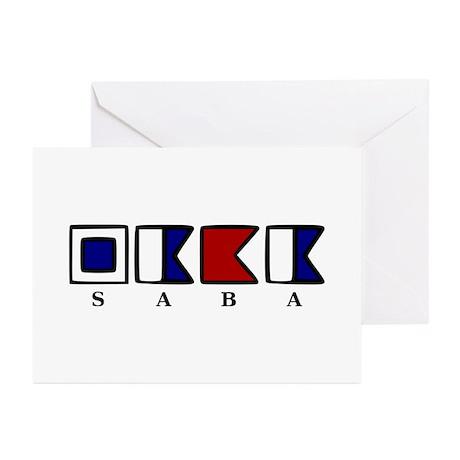 Nautical Saba Greeting Cards (Pk of 20)