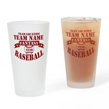 Your Team Fantasy Baseball Red Drinking Glass