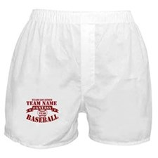 Your Team Fantasy Baseball Red Boxer Shorts
