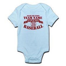 Your Team Fantasy Baseball Red Infant Bodysuit