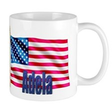 Adela Personalized USA Flag Mug
