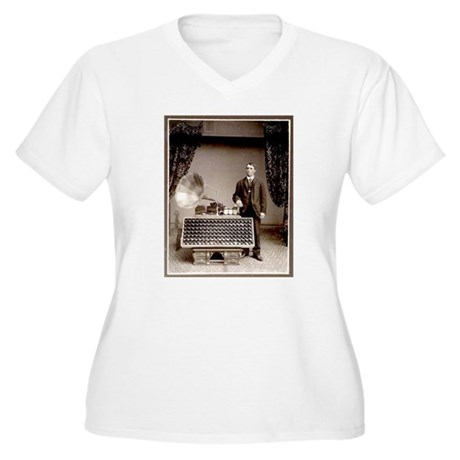 The Phonograph Women's Plus Size V-Neck T-Shirt