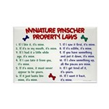 Miniature Pinscher Property Laws Rectangle Magnet