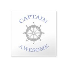 """Captain Awesome"" Square Sticker 3"""